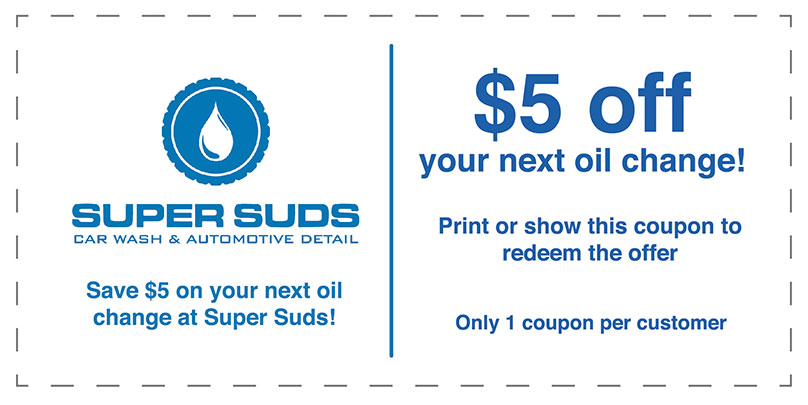 $5 off your Next Oil Change | Super Suds Car Wash & Auto Repair - Bonita Springs, FL